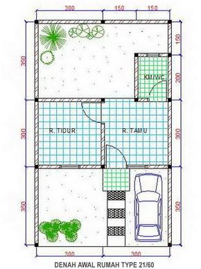 Penjelasan Tipe Rumah 21 36 45 54 60 120 Dll Contoh Desain