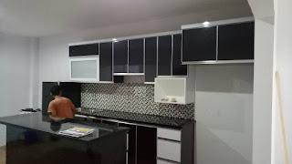 Kitchen set murah model lurus jakarta timur