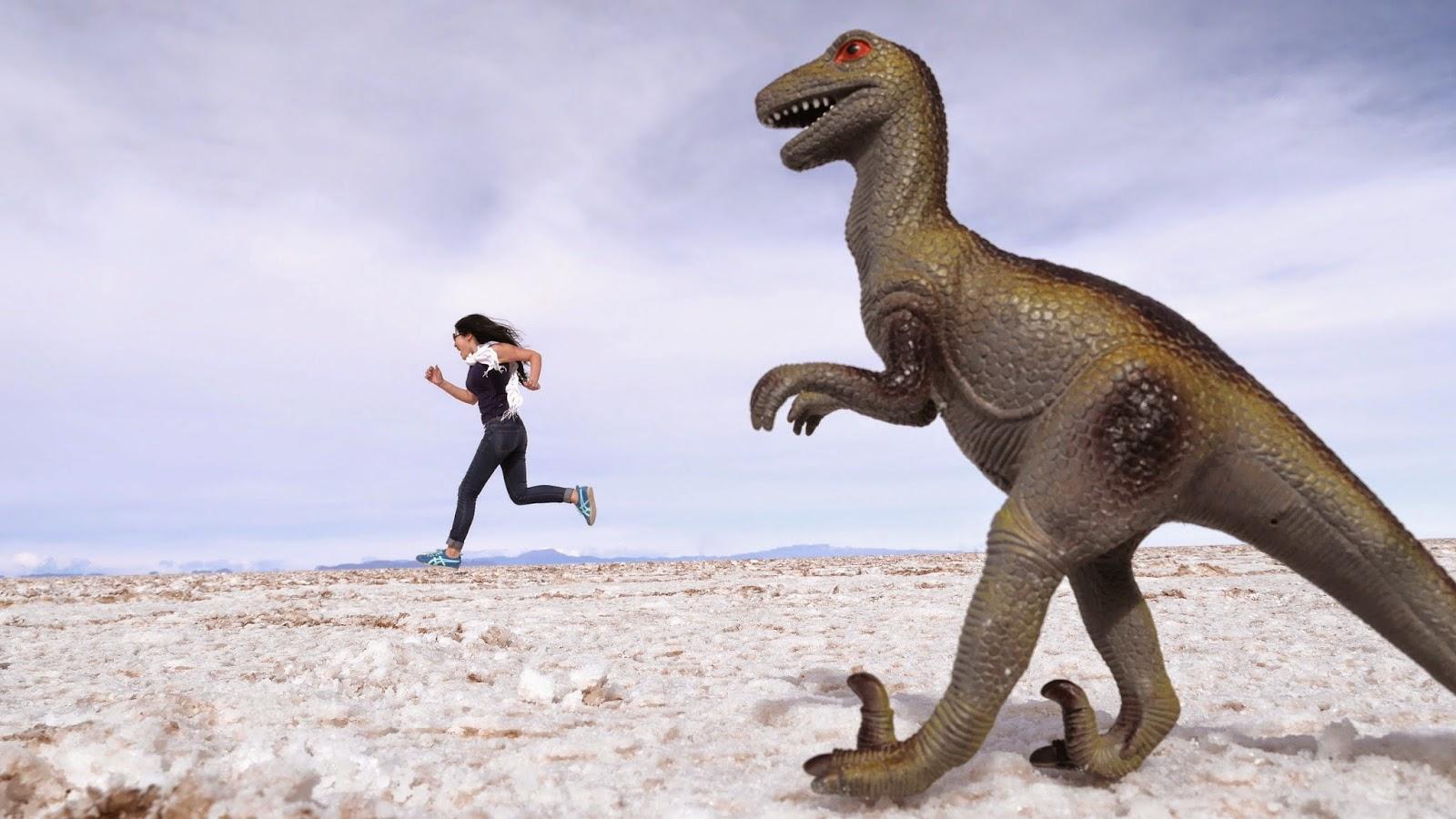 Dinosaur at Salar de Uyuni, Bolivia