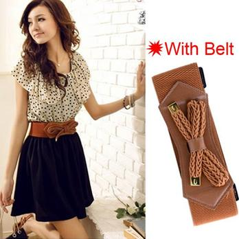 Dress Upper Polkadot Korean With Belt (SS D 45)