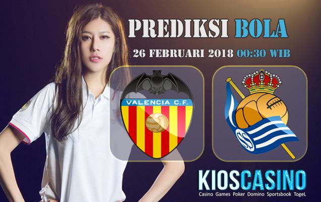 Prediksi Skor Valencia vs Real Sociedad 26 Februari 2018