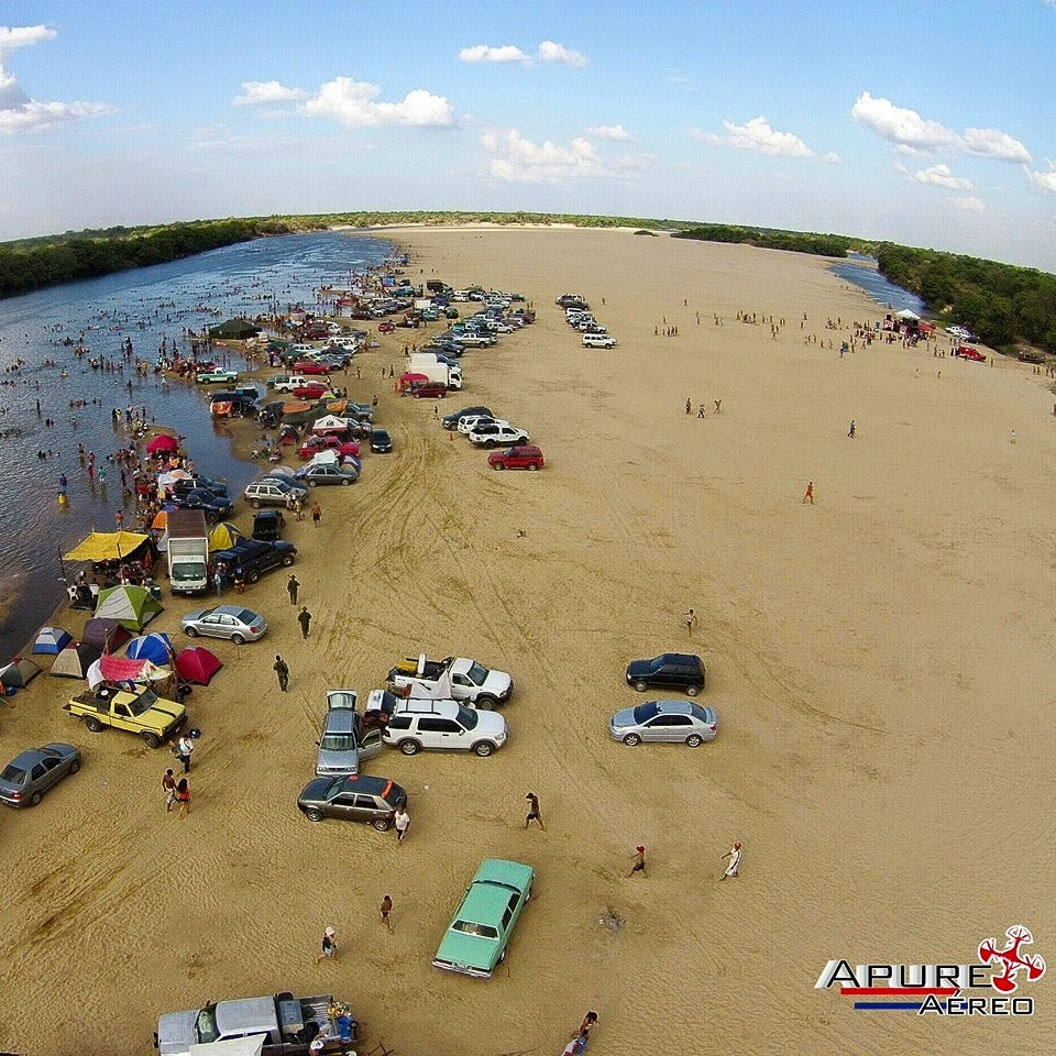 """APURE: Como llegar al balneario de playa de agua dulce """"La Macanilla""""-Venezuela en Verano. TURISMO"""