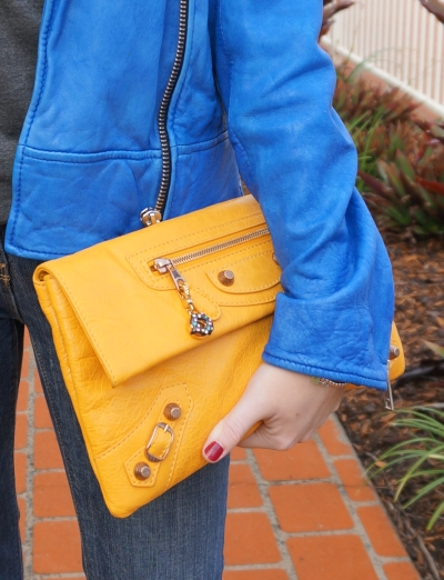 Away From The Blue Balenciaga Mangue Envelope clutch