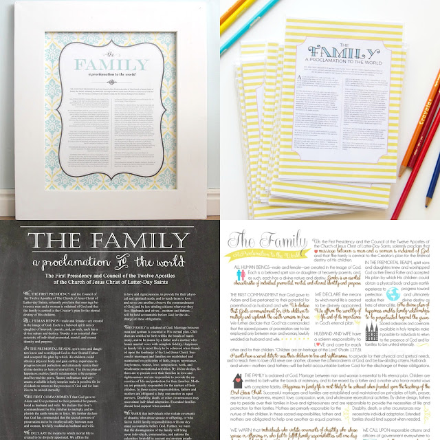 Free Printables - The Family: A Proclamation to the World - ldslane.net