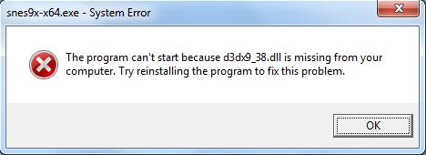 d3dx9_42.dll missing snes