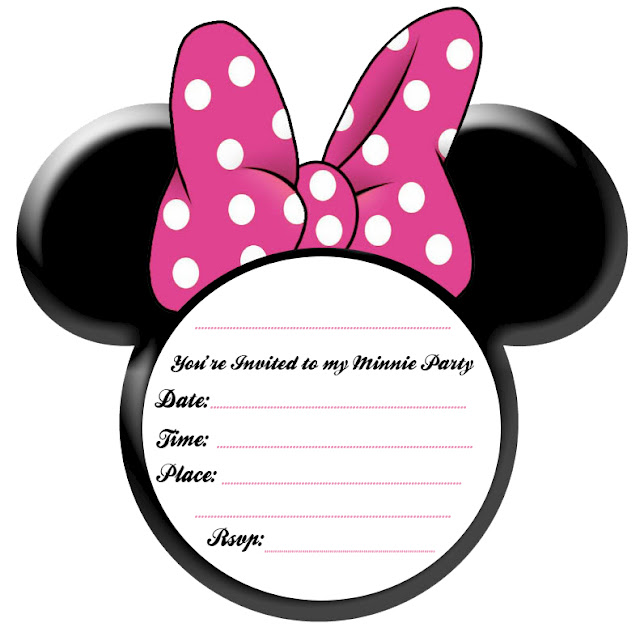 Free Minnie Mouse Ears Printable Invitation