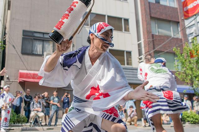 江戸っ子連、男踊り、マロニエ祭り流し踊り中の演舞の写真 その5