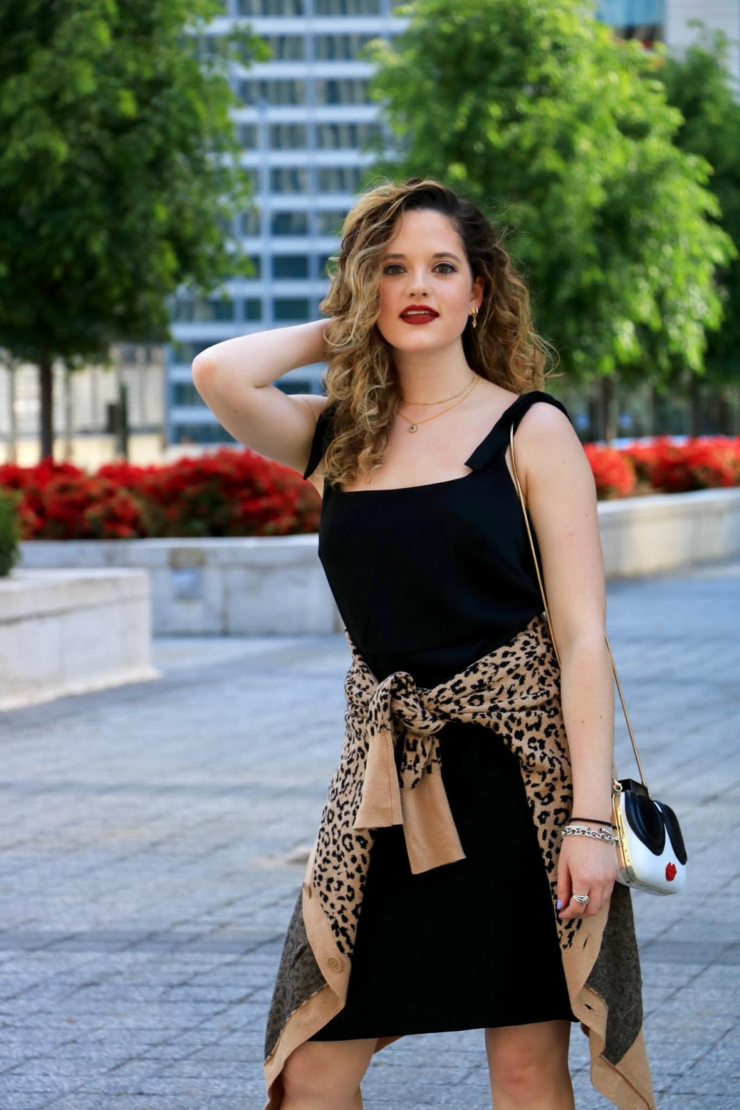 Nyc fashion blogger Kathleen Harper's black dress outfit idea for Spring.