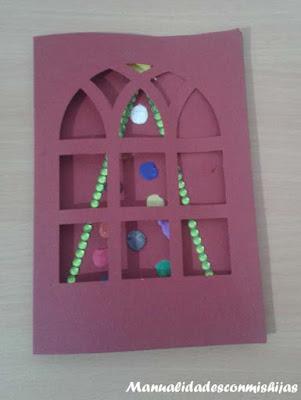 Tarjeta con pino navideño y plastilina