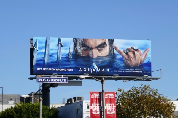 Aquaman Shaka billboard