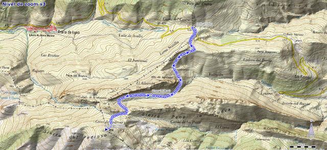 Mapa ruta Aralla Cerro Pedroso