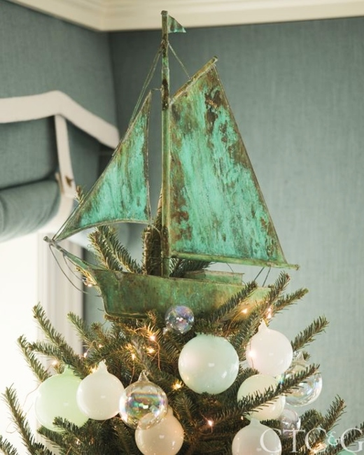 Sailboat Christmas Tree Topper