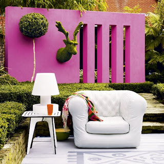 Contemporary Pink Wall