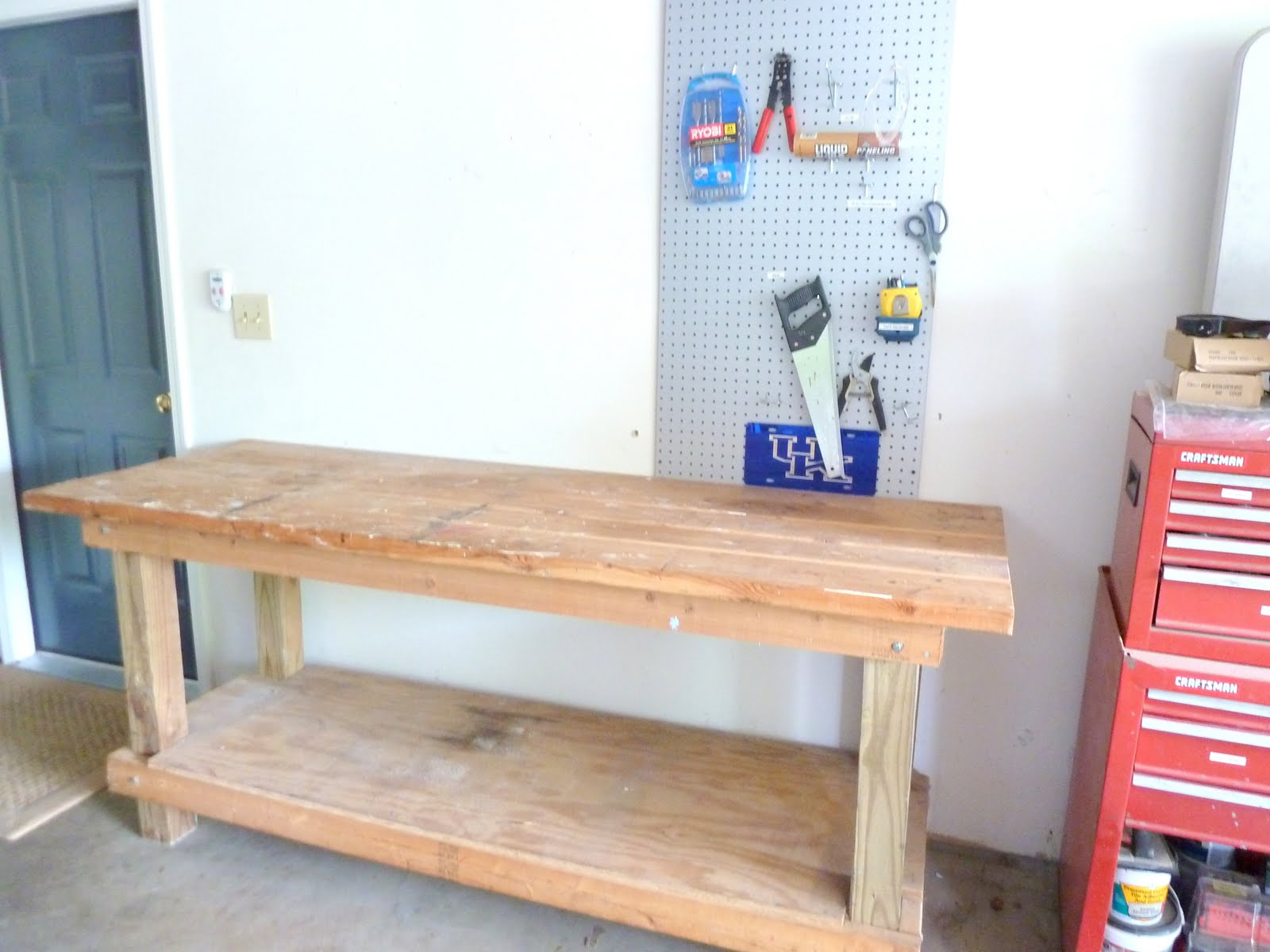 Work Bench Turned Potting Bench