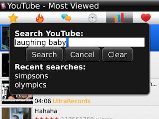 تشغيل فيديو اليوتيوب للبلاك بيري youtube player blackberry