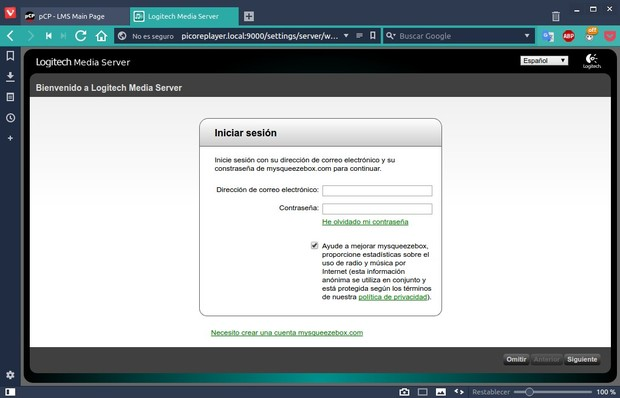 Volumio frente a piCorePlayer en la Raspberry Pi: un análisis comparativo Logitech%2BMedia%2BServer_964