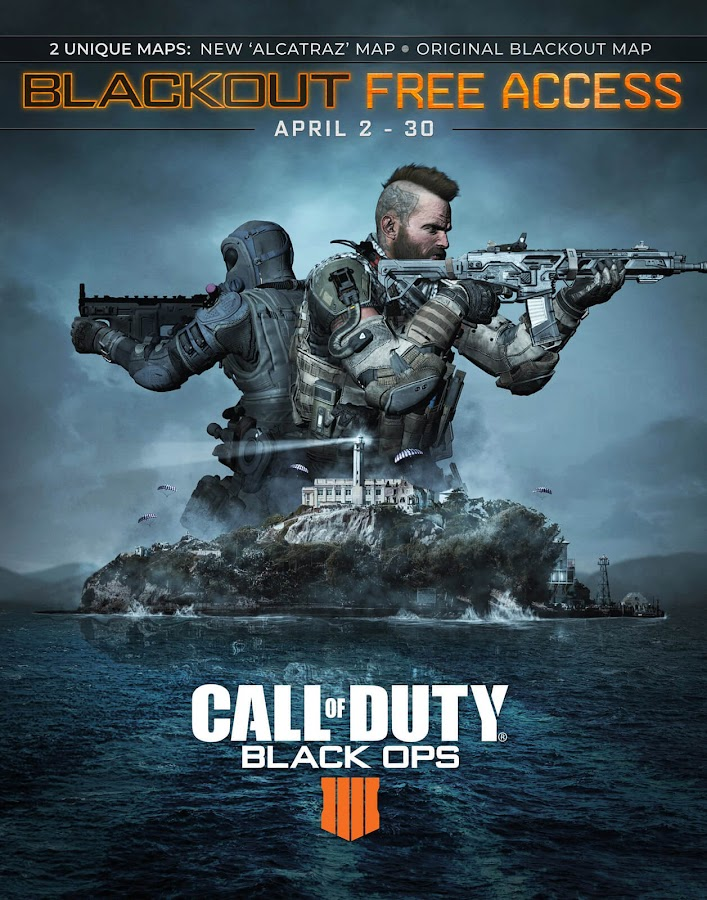 call of duty black ops 4 blackout alcatraz free to play