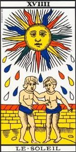 El Sol- Arcano XVIIII- Tarot de Marsella