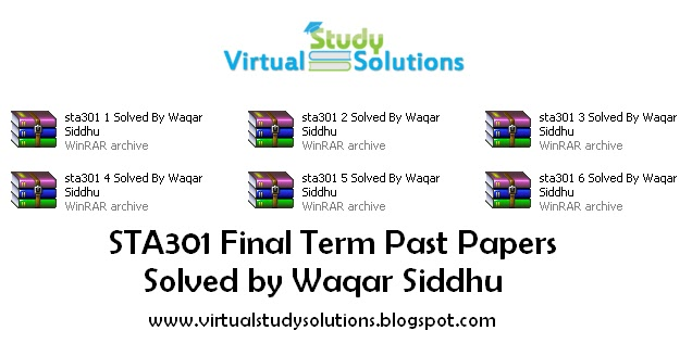 sta301 current final term paper 2013