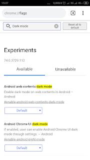 cara aktifkan fitur dark mode di chrome android