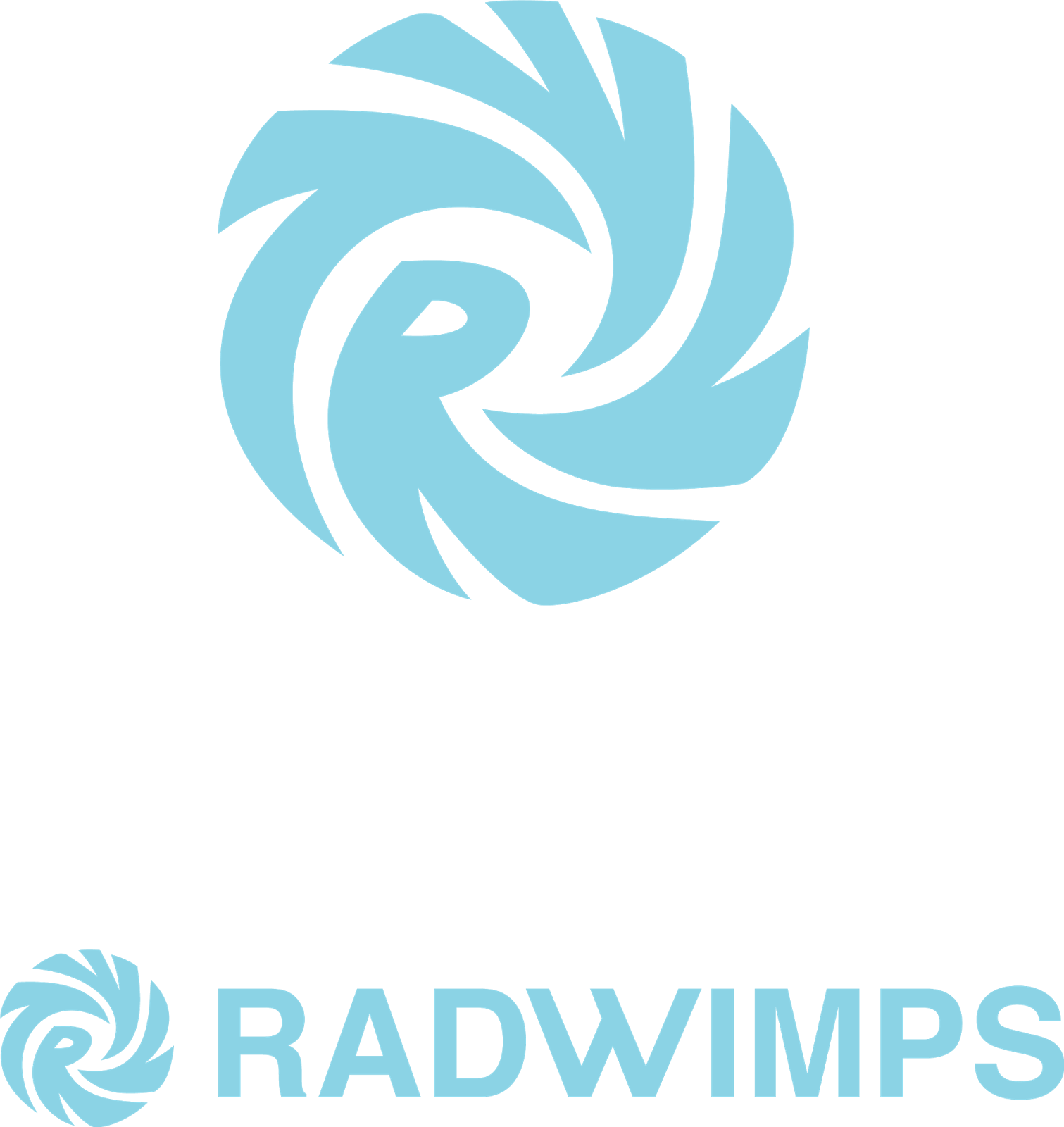 RADWIMPSの白背景透過ロゴ