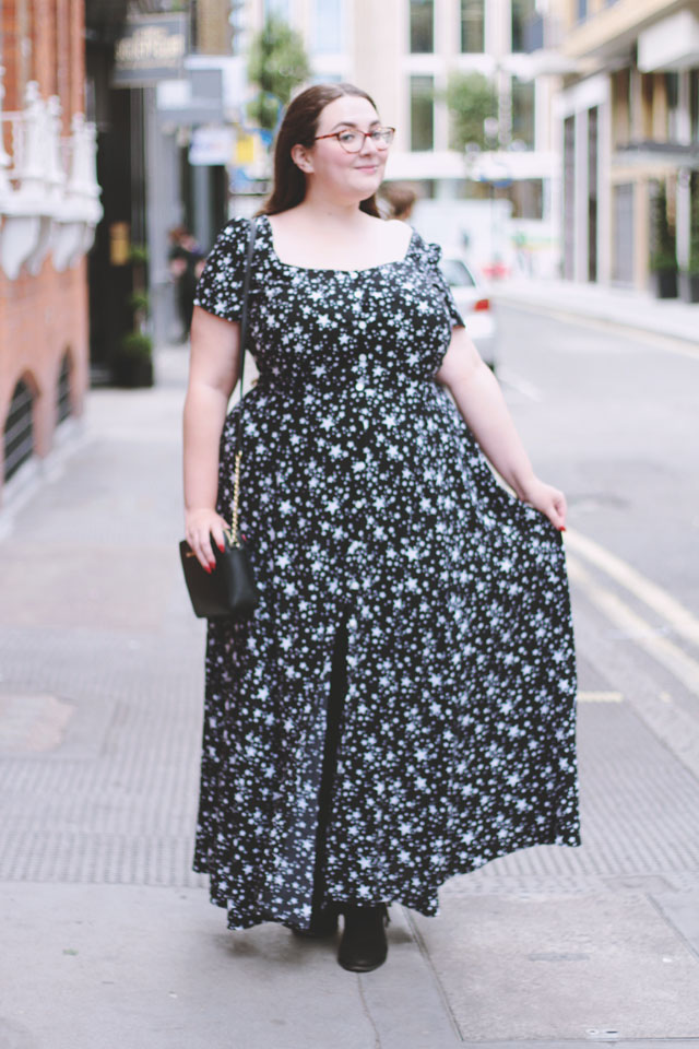 Plus size star print maxi dress