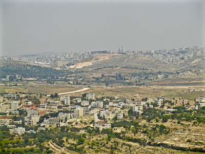 View of Jerusalem from Nabi Samwil, called Montjoie by the Crusaders.