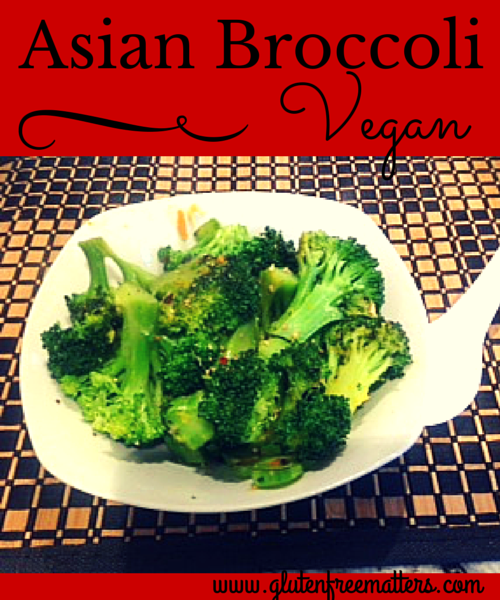 picture of plate of vegan asian broccoli