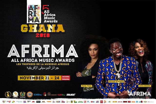#5thAFRIMA: Michael Blackson, Pearl Thusi, Anita Erskine to host 5th AFRIMA