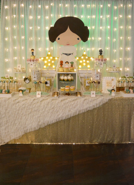 Rachel j special events star wars baby shower featuring princess leia - Decoration table theme star wars ...