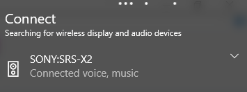 How to fix Sony SRS X Bluetooth speaker not working in Windows 10