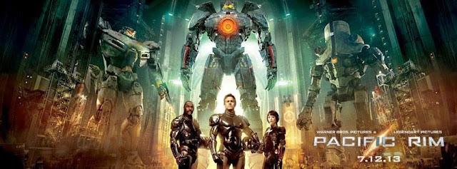 Charlie Hunnam, Idris Elba and Rinko Kikuchi in Guillermo del Toro's Pacific Rim (2013)