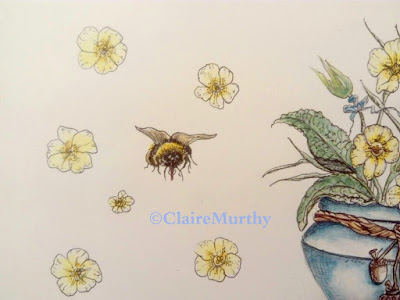 Bee and Flowers : Watercolour and Ink Illustration Workshops