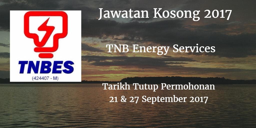 Jawatan Kosong TNBES 21 & 27 September 2017