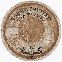 Undangan Pernikahan Berbentuk Lingkaran Kayu