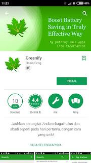 Cara Menggunakan Greenify, APlikasi untuk menghemat Baterai