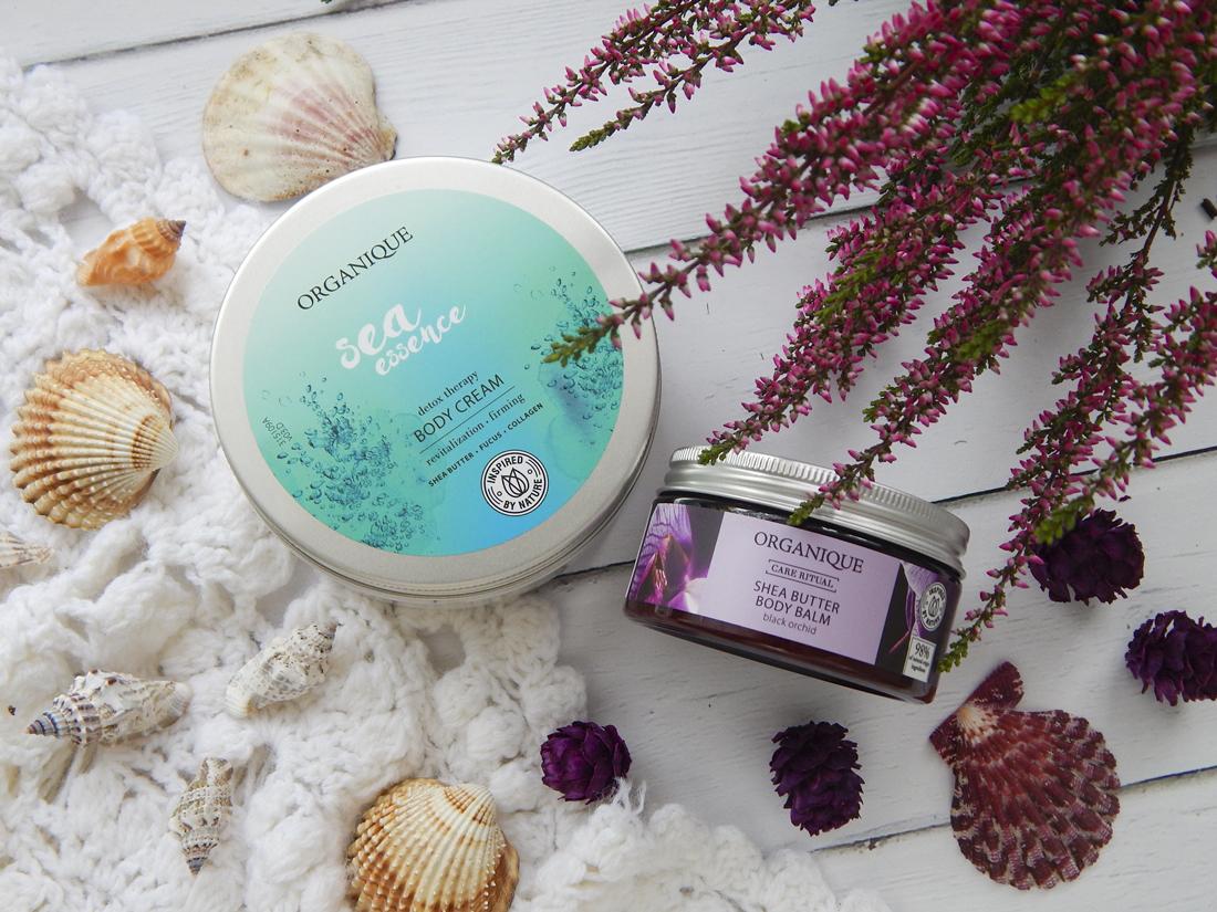 Pielęgnacja o uzależniającym zapachu - Organique balsam do ciała z masłem shea Black Orchid i krem do ciała Sea Essence