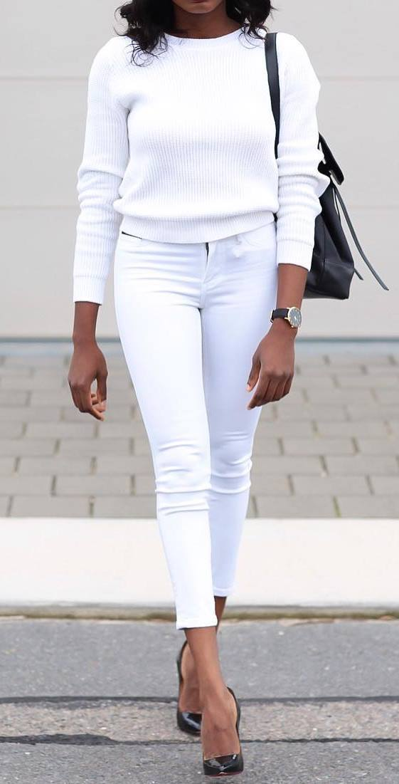 perfect white outfit idea