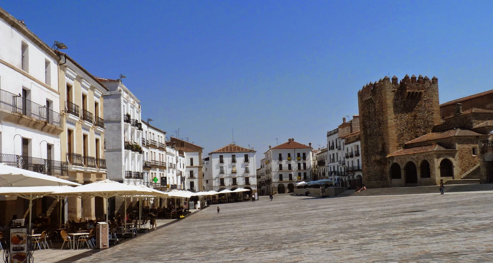 Plaza Mayor de Cáceres.