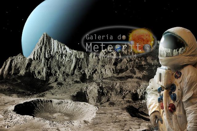 Miranda - lua de Urano - astronauta - landscape
