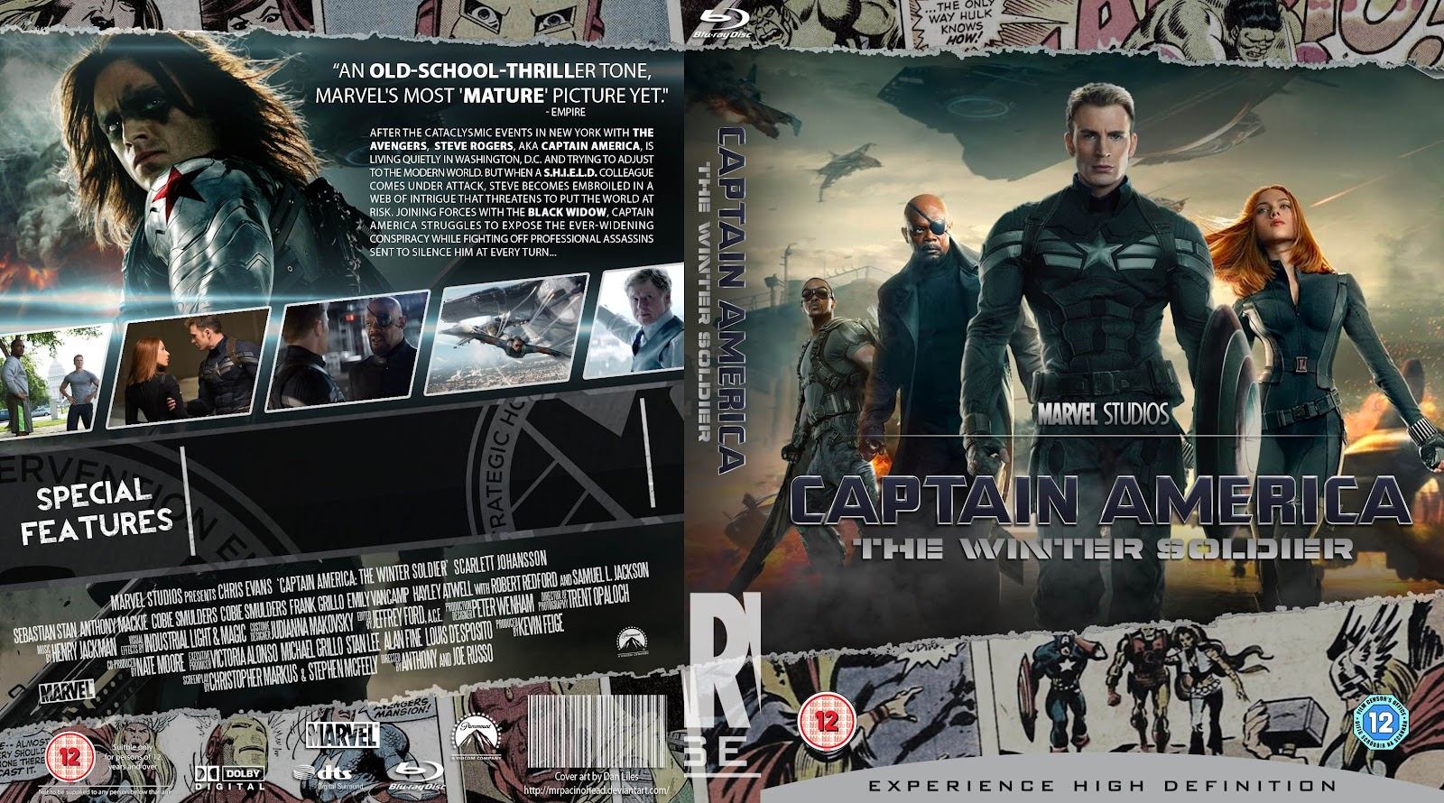 Capa Bluray Captain America The Winter Soldier