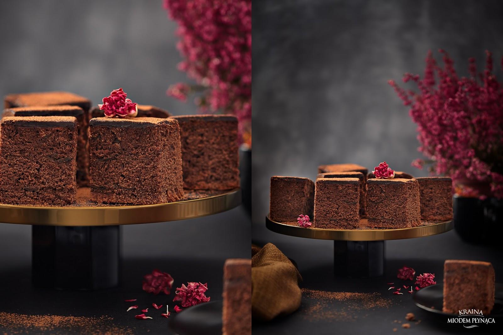 murzynek, tradycyjny murzynek, murzynek z powidłami, ciasto czekoladowe, ciasto z kakao, ciasto z powidłami, kraina miodem płynąca