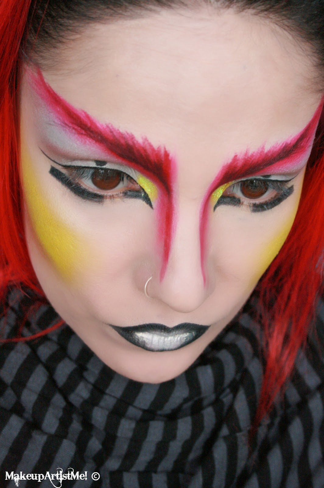 Make Up Lesson For Beginners: Make-up Artist Me!: Warrior -- An Artistic Makeup Look