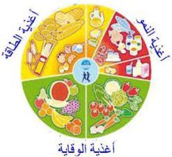 نتيجة بحث الصور عن المجموعات الغذائية الثلاث