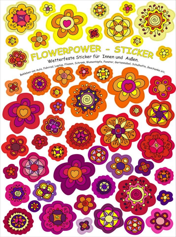 n-art: Blumensticker