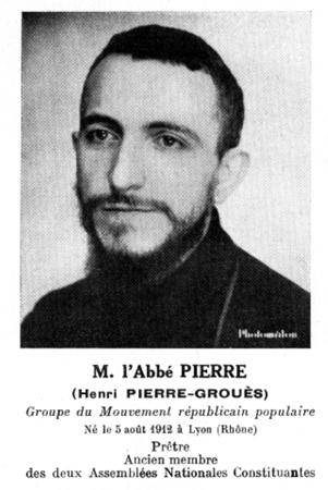 Pierre Grouès. Abbé Pierre