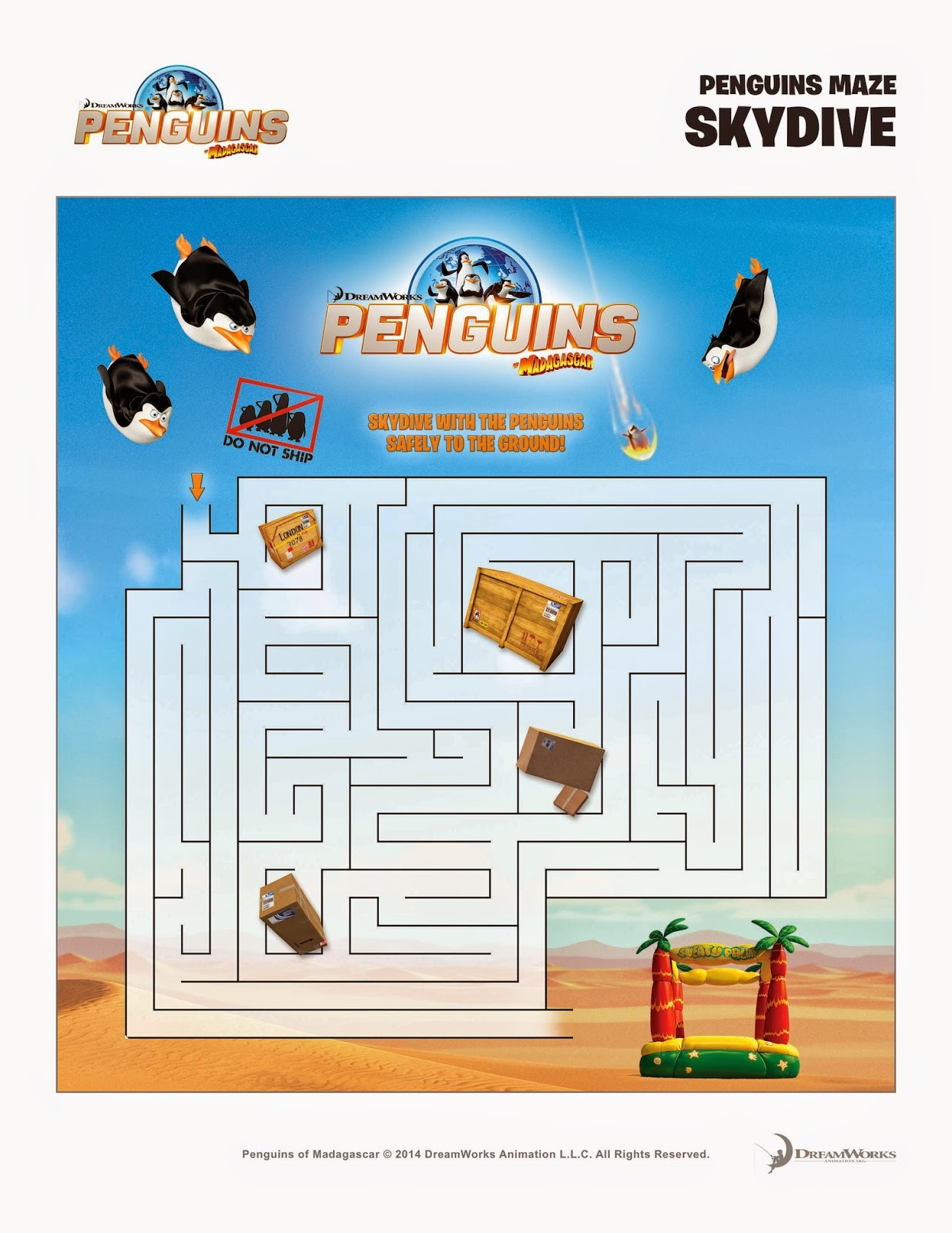 Penguins Of Madagascar Free Printables