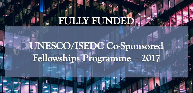 UNESCOCzech Republic Co-Sponsored Fellowships Programme, 2018-2019