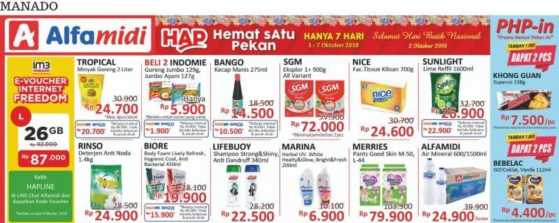 Alfamidi - Promo Katalog Hemat Satu Pekan Periode 01 - 07 Okt 2018
