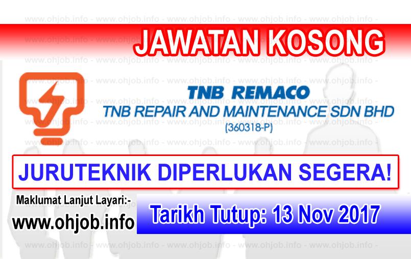 Jawatan Kerja Kosong TNB Repair and Maintenance logo www.ohjob.info november 2017